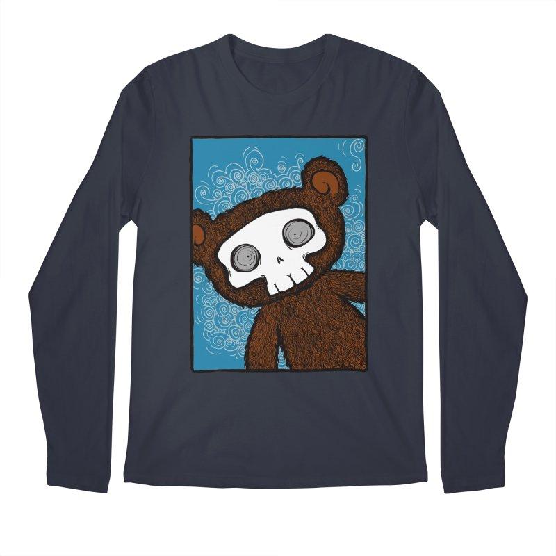 Hello There SkullyBear Men's Longsleeve T-Shirt by SkullyFlower's Sweetly Creepy Tees