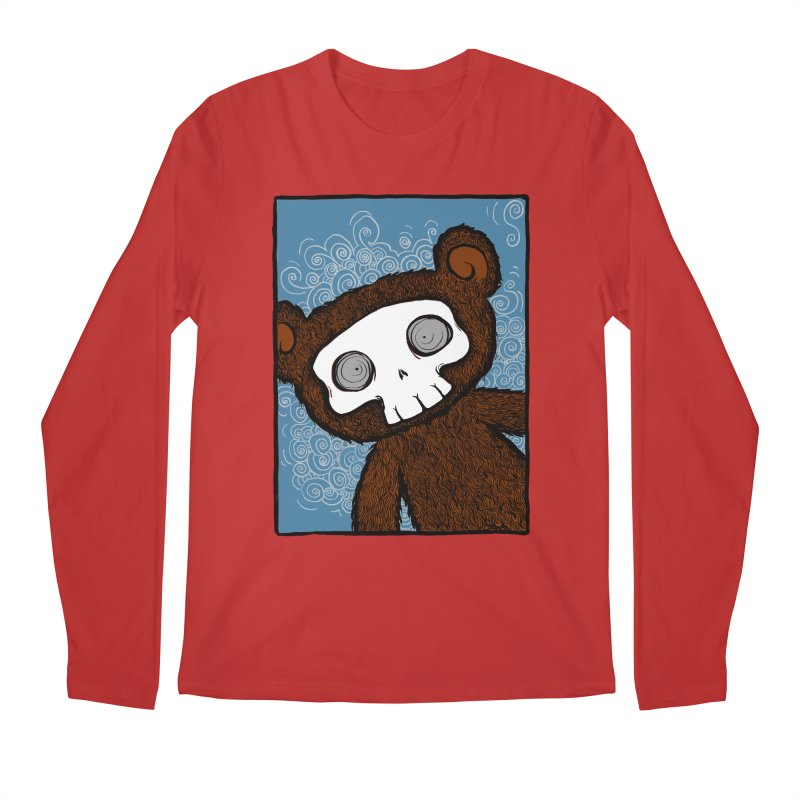 Hello There SkullyBear Men's Regular Longsleeve T-Shirt by SkullyFlower's Sweetly Creepy Tees