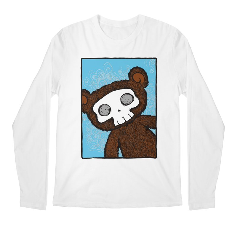 Hello There SkullyBear Men's Longsleeve T-Shirt by SkullyFlower's Sweetly Creepy Tees