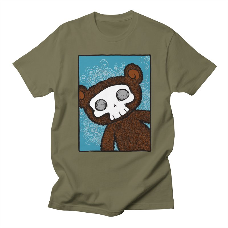 Hello There SkullyBear Women's Unisex T-Shirt by SkullyFlower's Sweetly Creepy Tees
