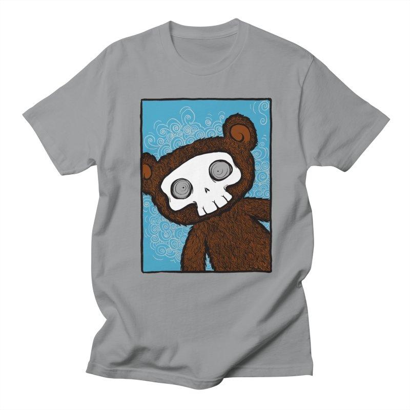 Hello There SkullyBear Men's Regular T-Shirt by SkullyFlower's Sweetly Creepy Tees
