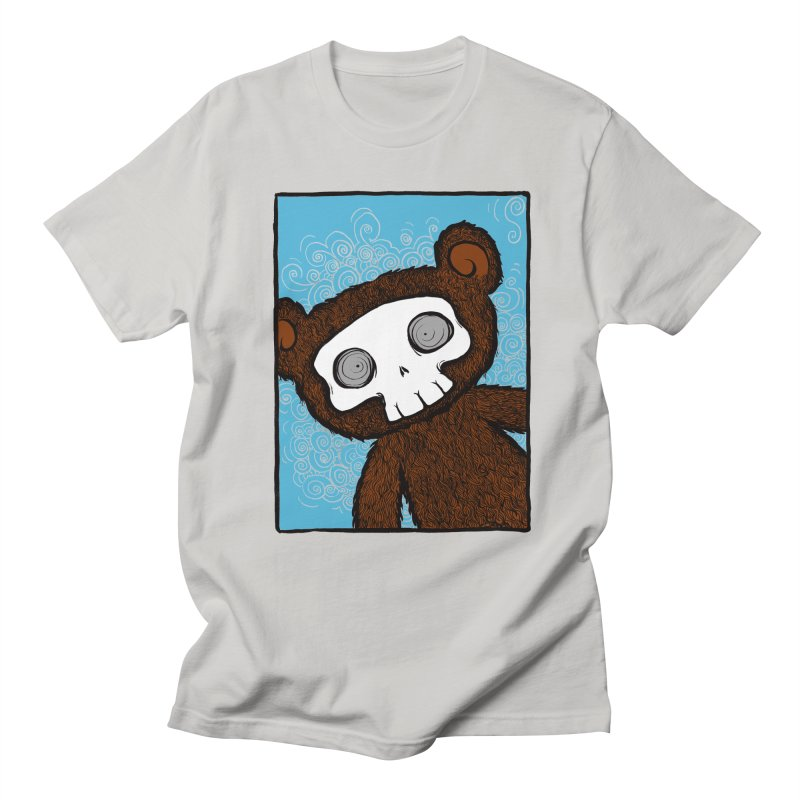 Hello There SkullyBear Men's Regular T-Shirt by SkullyFlower's Sweetly Creepy Tees