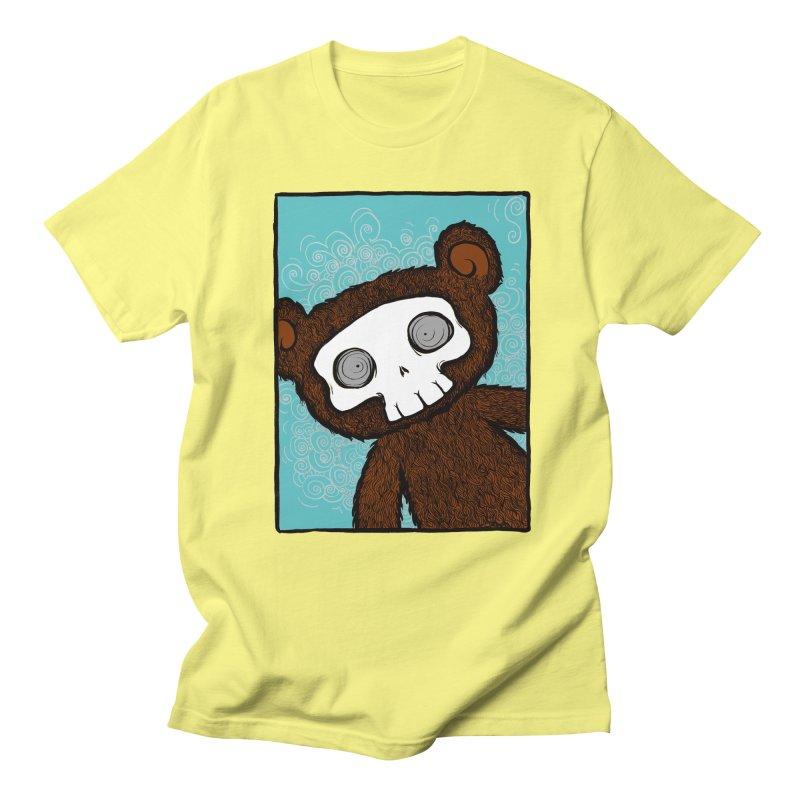 Hello There SkullyBear Women's Regular Unisex T-Shirt by SkullyFlower's Sweetly Creepy Tees