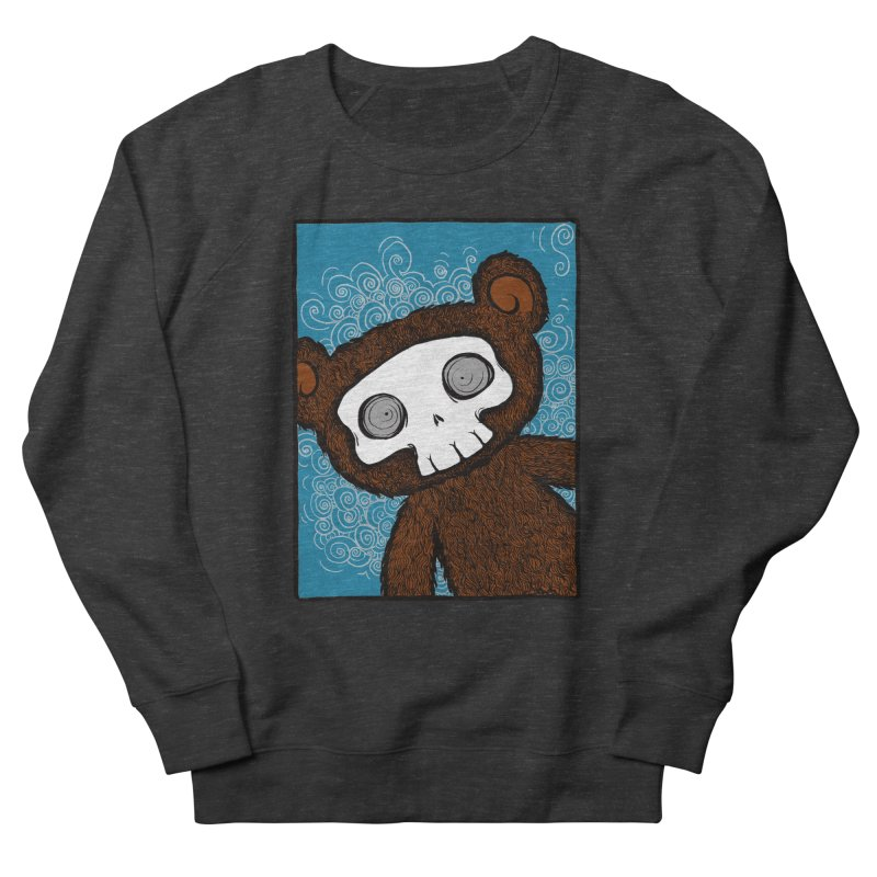 Hello There SkullyBear Men's French Terry Sweatshirt by SkullyFlower's Sweetly Creepy Tees