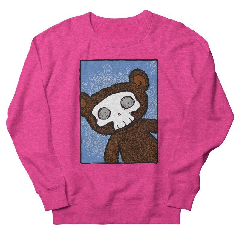 Hello There SkullyBear Men's French Terry Sweatshirt by SkullyFlower's Sweetly Creepy Tees