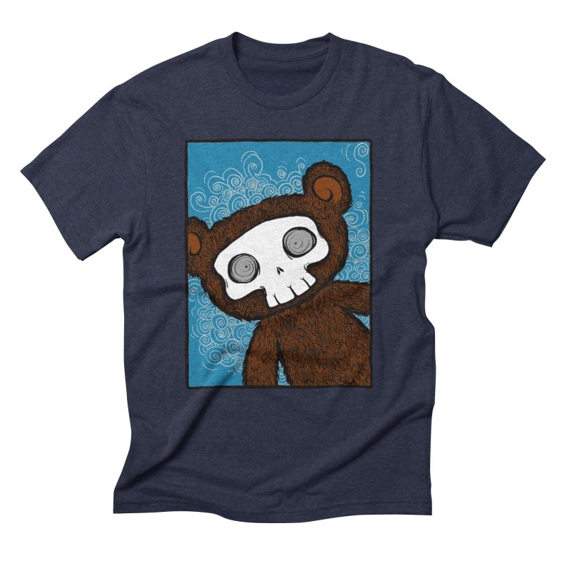 Hello There SkullyBear Men's Triblend T-Shirt by SkullyFlower's Sweetly Creepy Tees