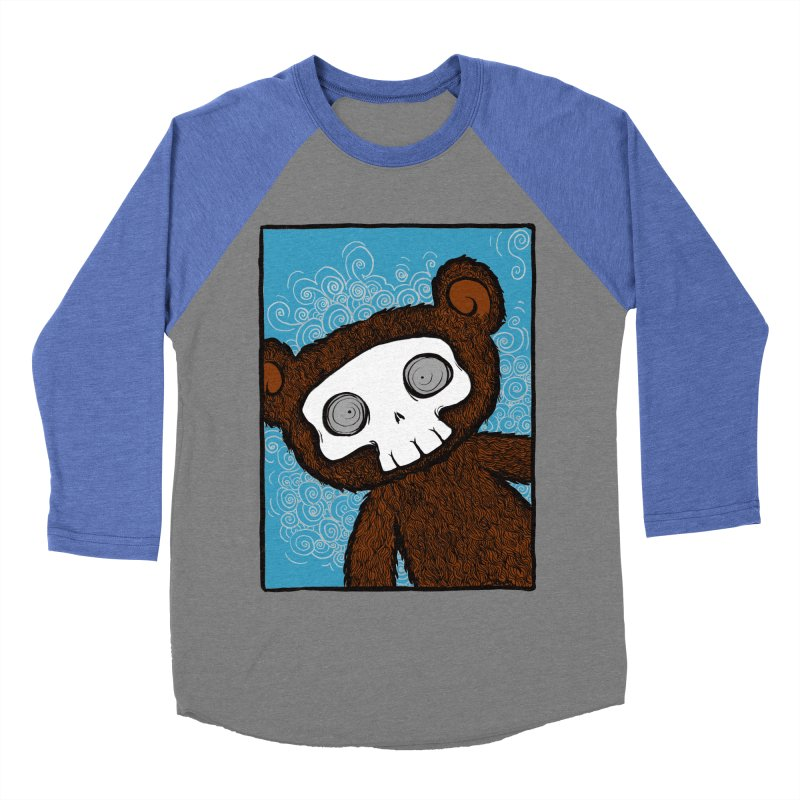 Hello There SkullyBear Women's Baseball Triblend Longsleeve T-Shirt by SkullyFlower's Sweetly Creepy Tees