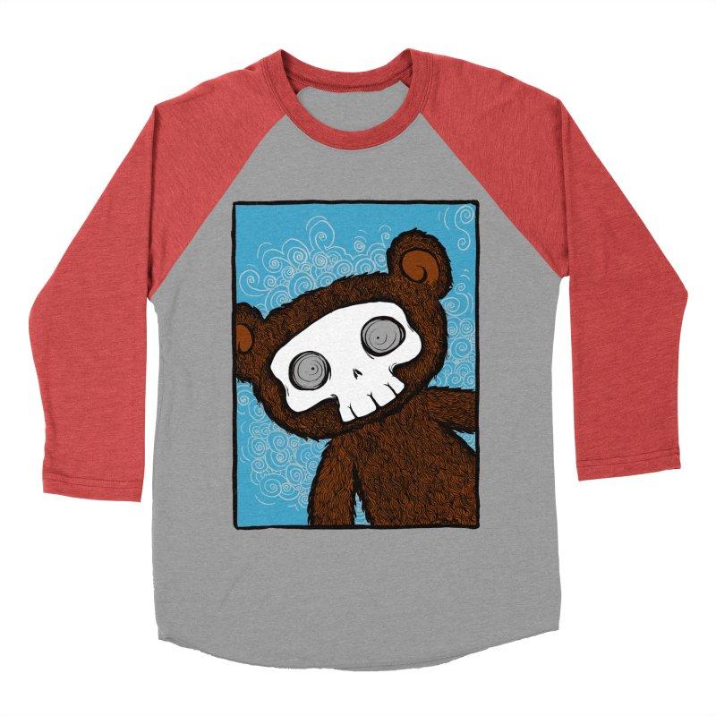 Hello There SkullyBear Men's Baseball Triblend Longsleeve T-Shirt by SkullyFlower's Sweetly Creepy Tees