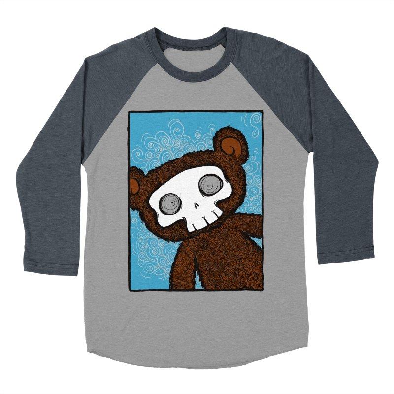Hello There SkullyBear Men's Baseball Triblend T-Shirt by SkullyFlower's Sweetly Creepy Tees
