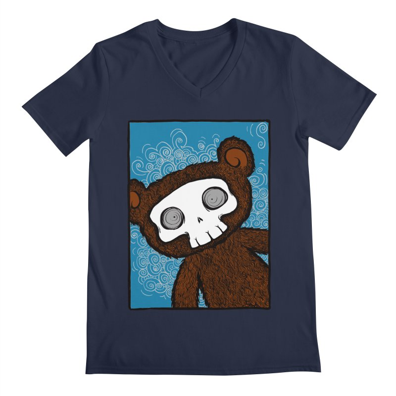 Hello There SkullyBear Men's V-Neck by SkullyFlower's Sweetly Creepy Tees