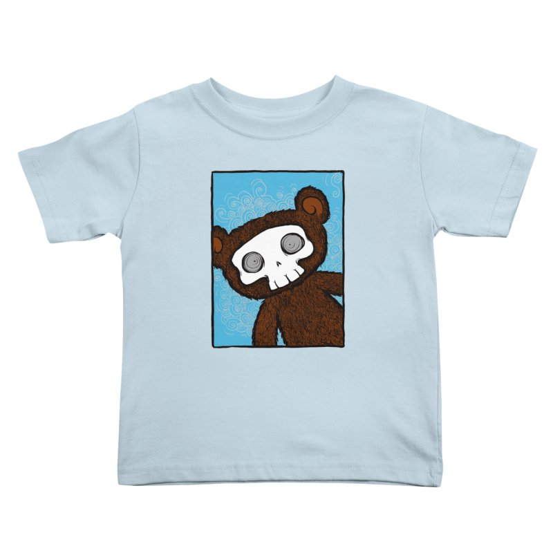 Hello There SkullyBear Kids Toddler T-Shirt by SkullyFlower's Sweetly Creepy Tees