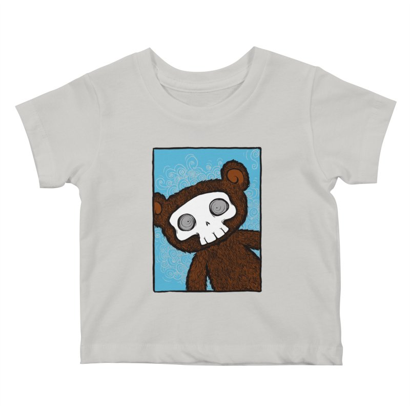 Hello There SkullyBear Kids Baby T-Shirt by SkullyFlower's Sweetly Creepy Tees