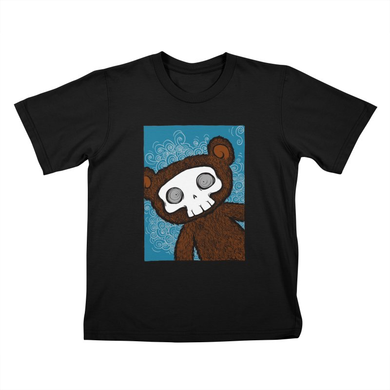 Hello There SkullyBear Kids T-Shirt by SkullyFlower's Sweetly Creepy Tees