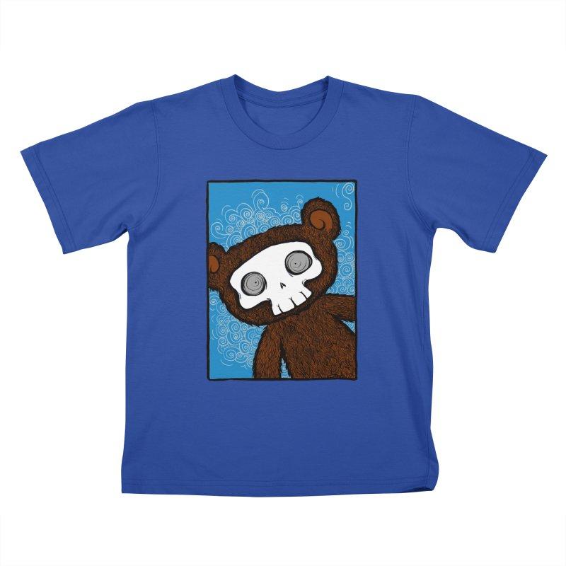 Hello There SkullyBear Kids T-Shirt by SkullyFlower's Sweetly Creepy Tees