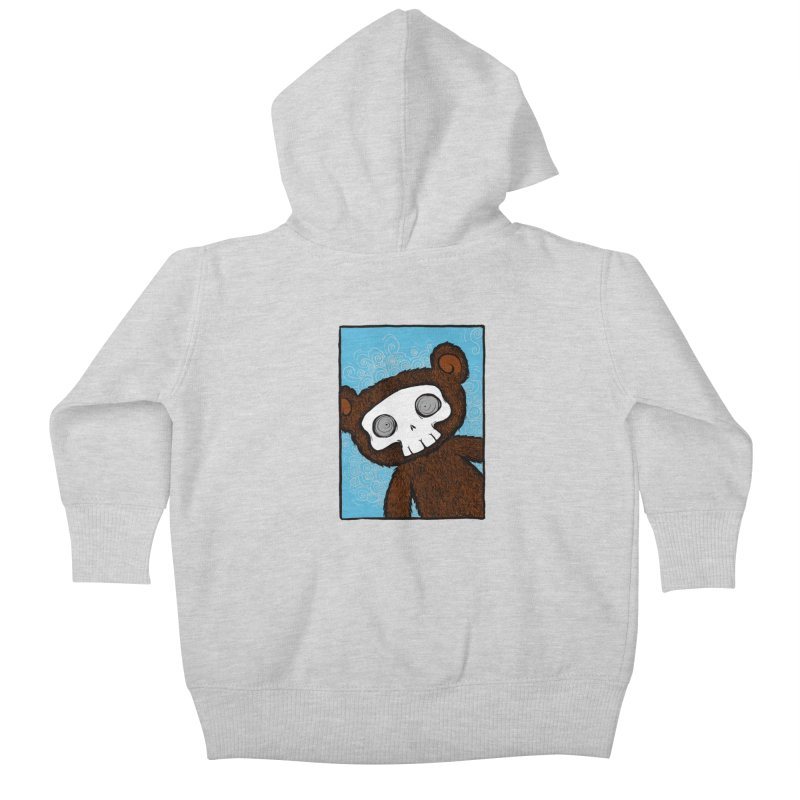 Hello There SkullyBear Kids Baby Zip-Up Hoody by SkullyFlower's Sweetly Creepy Tees