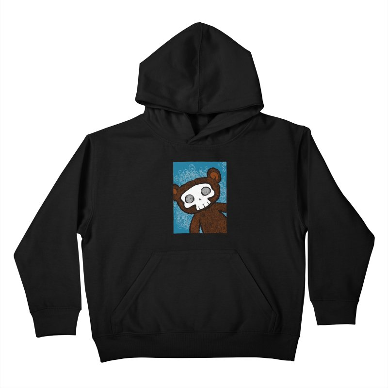 Hello There SkullyBear Kids Pullover Hoody by SkullyFlower's Sweetly Creepy Tees