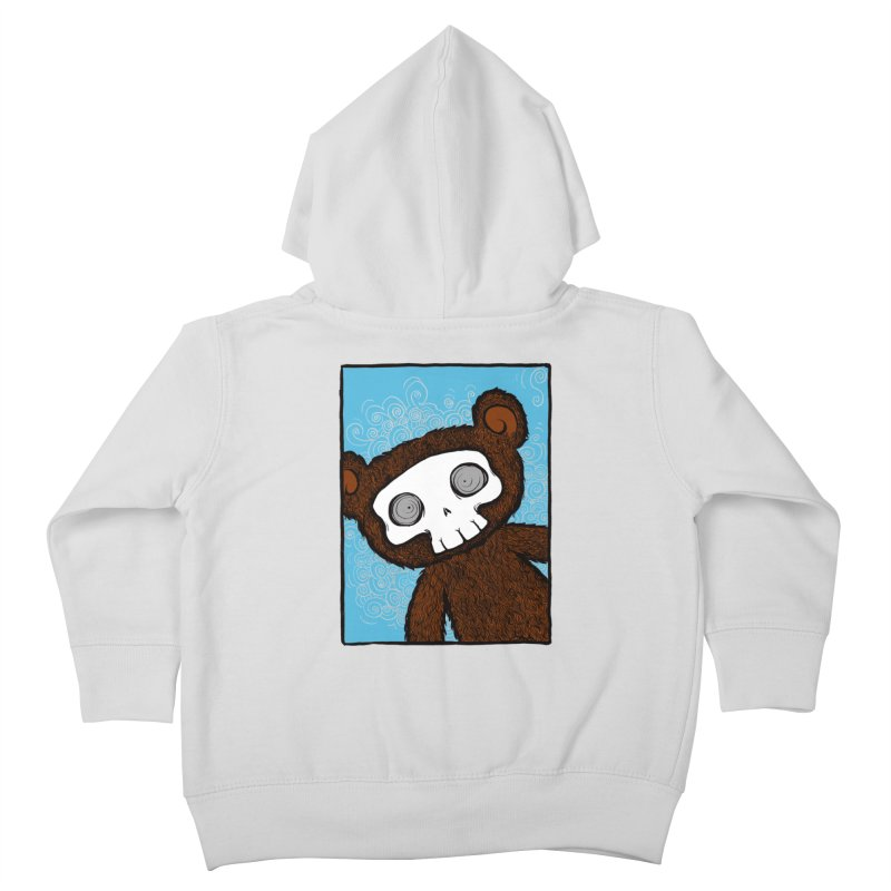 Hello There SkullyBear Kids Toddler Zip-Up Hoody by SkullyFlower's Sweetly Creepy Tees