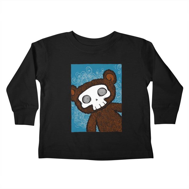 Hello There SkullyBear Kids Toddler Longsleeve T-Shirt by SkullyFlower's Sweetly Creepy Tees