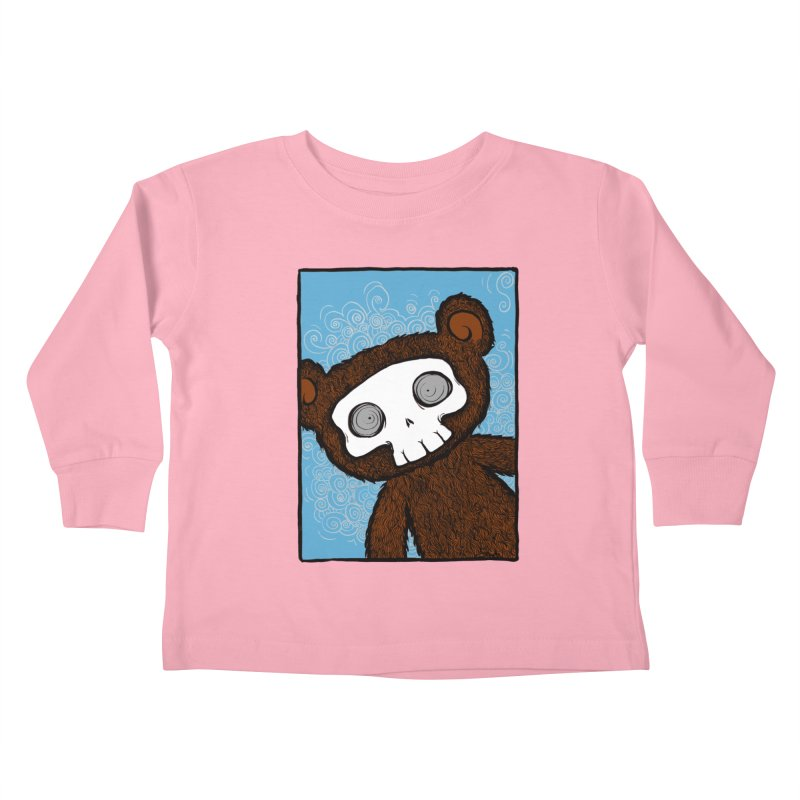 Hello There SkullyBear Kids Toddler Longsleeve T-Shirt by SkullyFlower's Sweetly Creepy Tees
