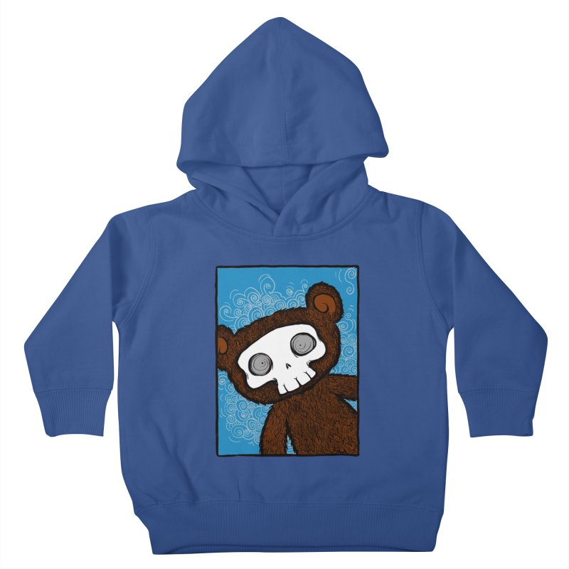 Hello There SkullyBear Kids Toddler Pullover Hoody by SkullyFlower's Sweetly Creepy Tees