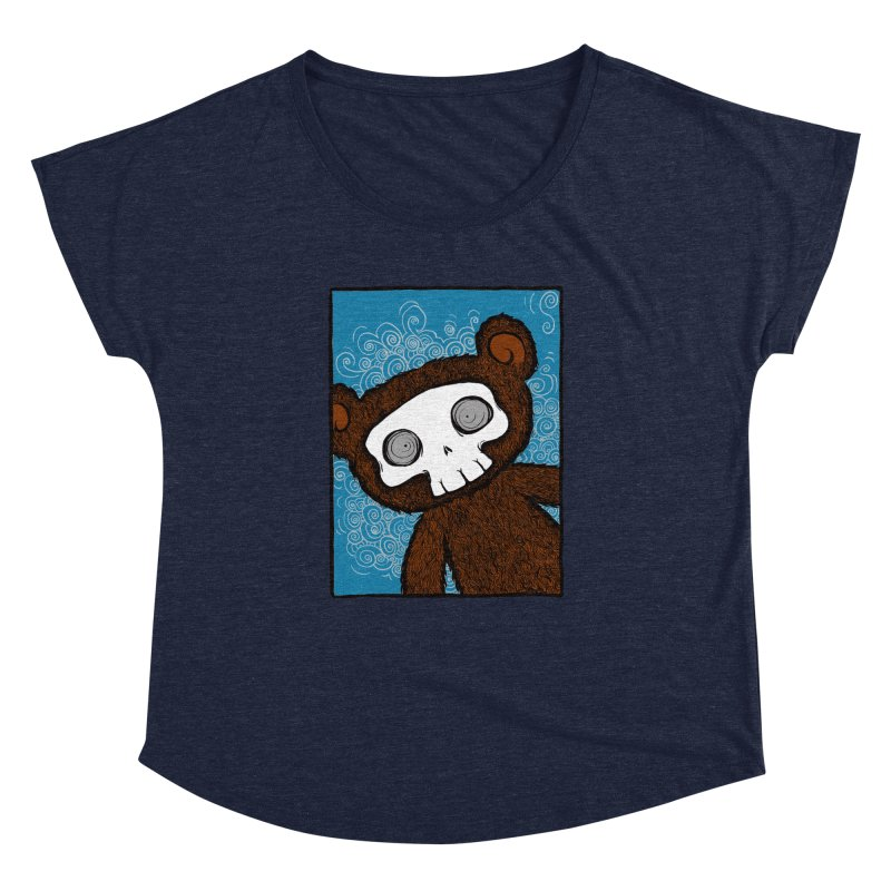 Hello There SkullyBear Women's Dolman Scoop Neck by SkullyFlower's Sweetly Creepy Tees