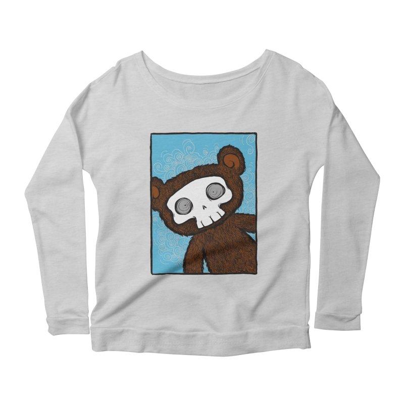 Hello There SkullyBear Women's Scoop Neck Longsleeve T-Shirt by SkullyFlower's Sweetly Creepy Tees
