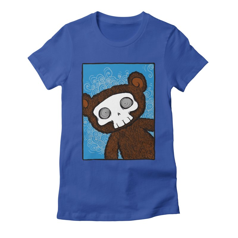 Hello There SkullyBear Women's Fitted T-Shirt by SkullyFlower's Sweetly Creepy Tees