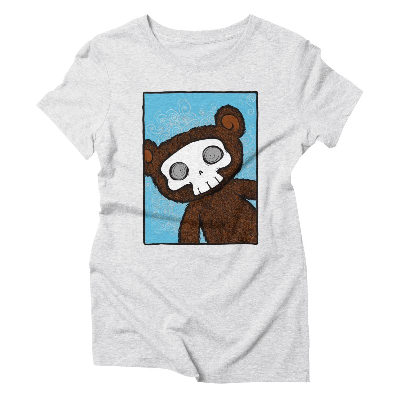 Hello There SkullyBear Women's Triblend T-Shirt by SkullyFlower's Sweetly Creepy Tees