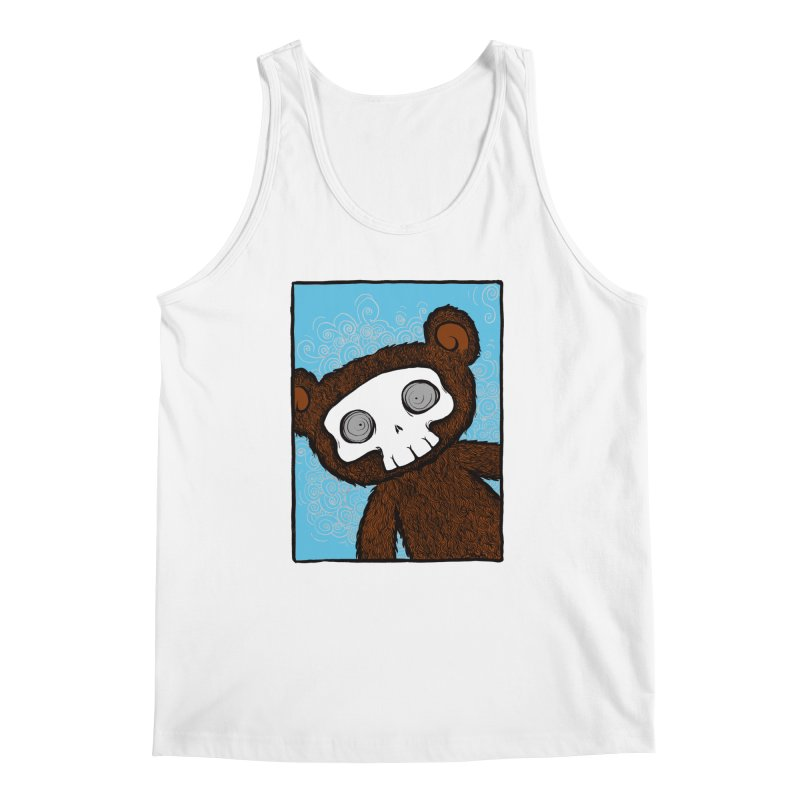 Hello There SkullyBear Men's Regular Tank by SkullyFlower's Sweetly Creepy Tees