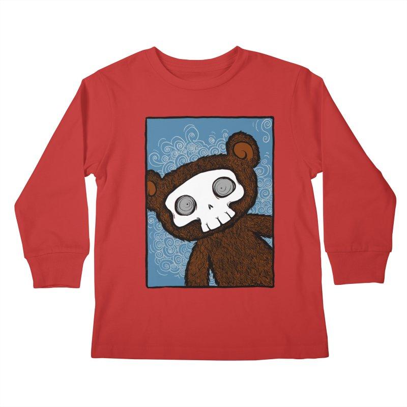 Hello There SkullyBear Kids Longsleeve T-Shirt by SkullyFlower's Sweetly Creepy Tees