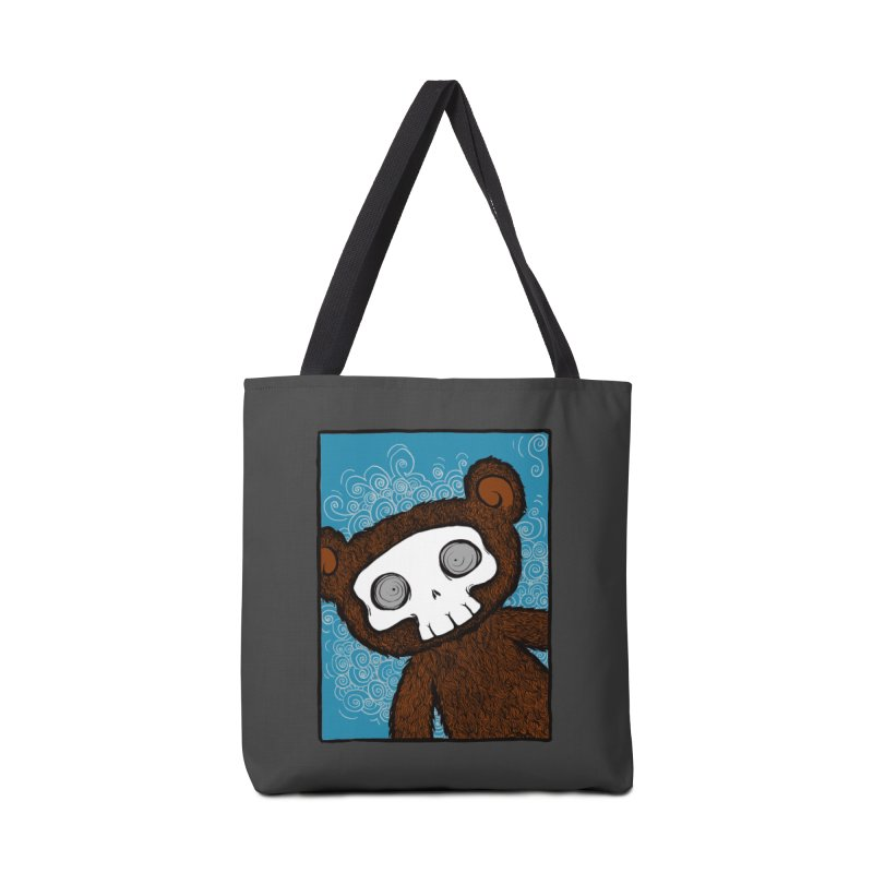 Hello There SkullyBear Accessories Bag by SkullyFlower's Sweetly Creepy Tees