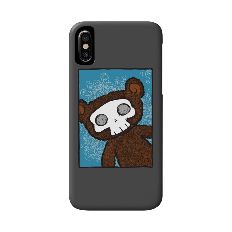 Hello There SkullyBear Accessories Phone Case by SkullyFlower's Sweetly Creepy Tees