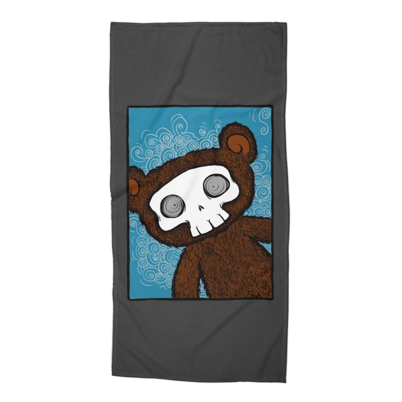 Hello There SkullyBear Accessories Beach Towel by SkullyFlower's Sweetly Creepy Tees