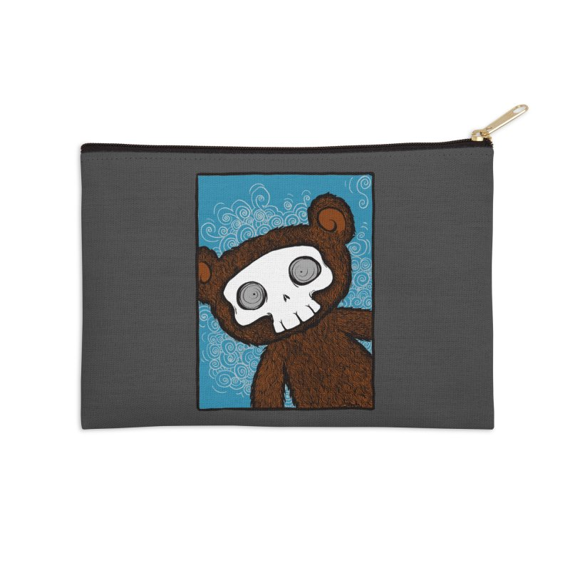 Hello There SkullyBear Accessories Zip Pouch by SkullyFlower's Sweetly Creepy Tees