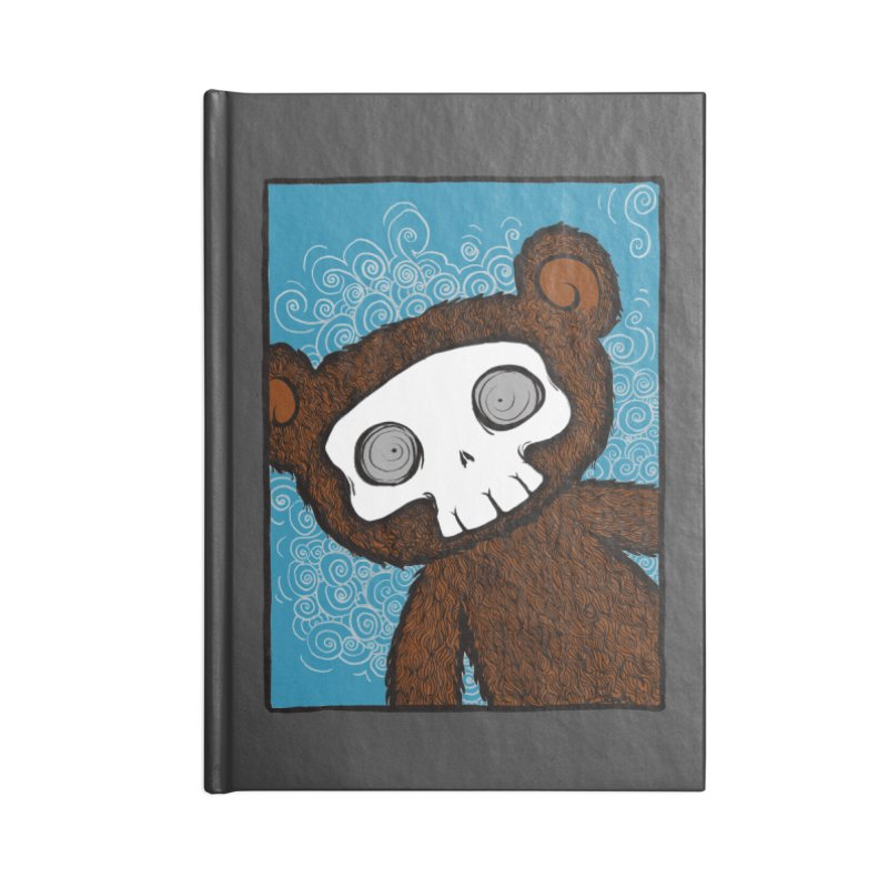 Hello There SkullyBear Accessories Blank Journal Notebook by SkullyFlower's Sweetly Creepy Tees