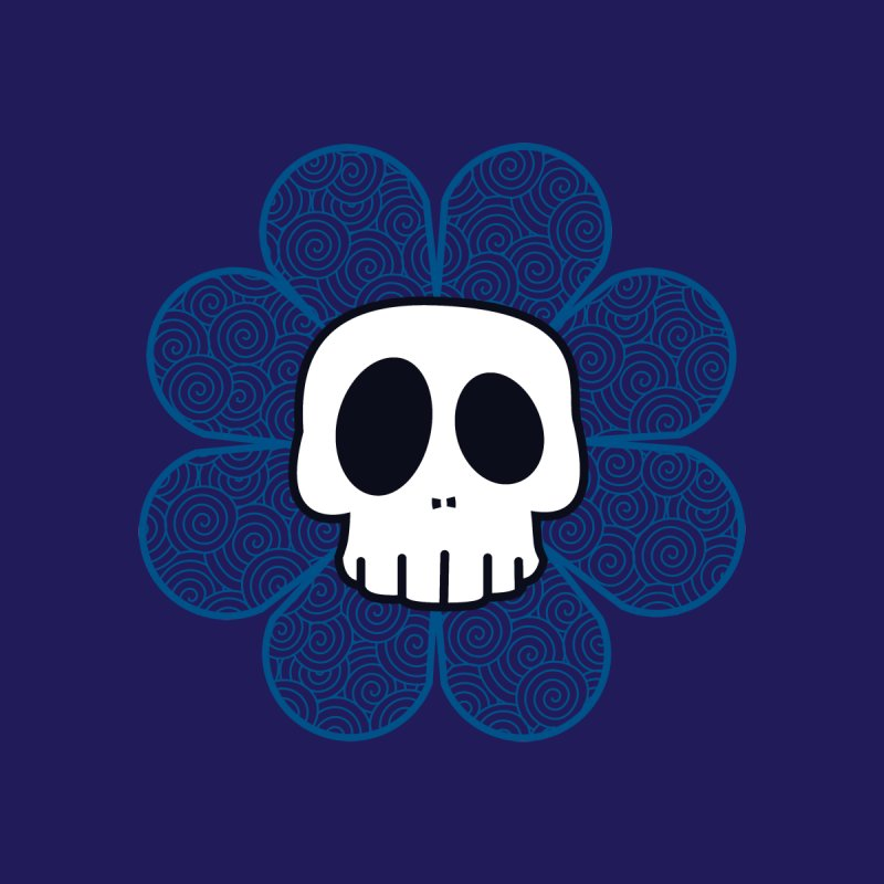 Swirl Skull Flower by SkullyFlower's Sweetly Creepy Tees