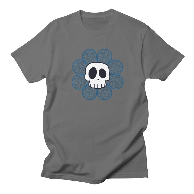 Swirl Skull Flower Men's T-Shirt by SkullyFlower's Sweetly Creepy Tees