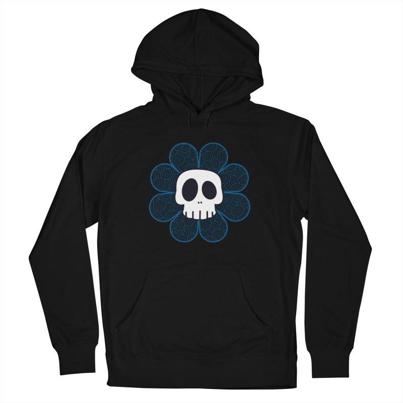 Swirl Skull Flower Women's French Terry Pullover Hoody by SkullyFlower's Sweetly Creepy Tees