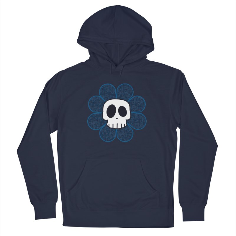 Swirl Skull Flower Women's French Terry Pullover Hoody by SkullyFlower's Sweetly Creepy Tees