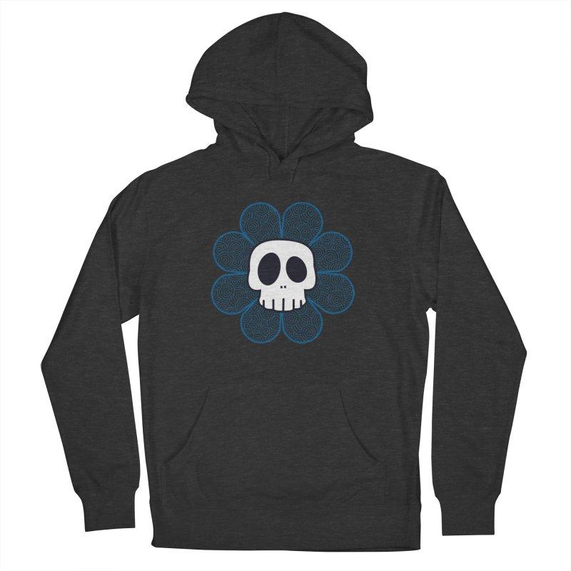 Swirl Skull Flower Men's Pullover Hoody by SkullyFlower's Sweetly Creepy Tees