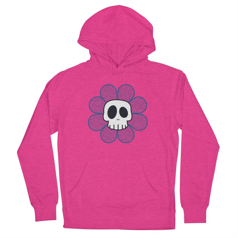 Swirl Skull Flower Men's Pullover Hoody by SkullyFlower's Sweetly Creepy Tees