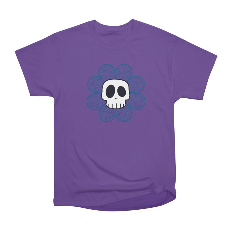 Swirl Skull Flower Women's Classic Unisex T-Shirt by SkullyFlower's Sweetly Creepy Tees