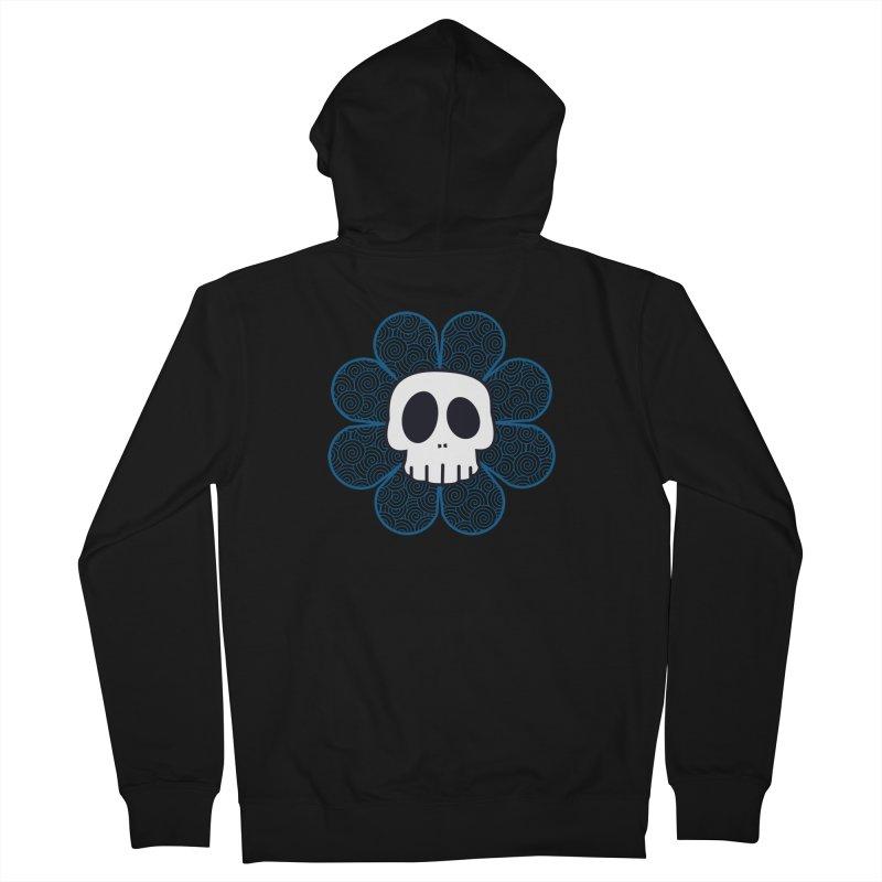 Swirl Skull Flower Women's French Terry Zip-Up Hoody by SkullyFlower's Sweetly Creepy Tees