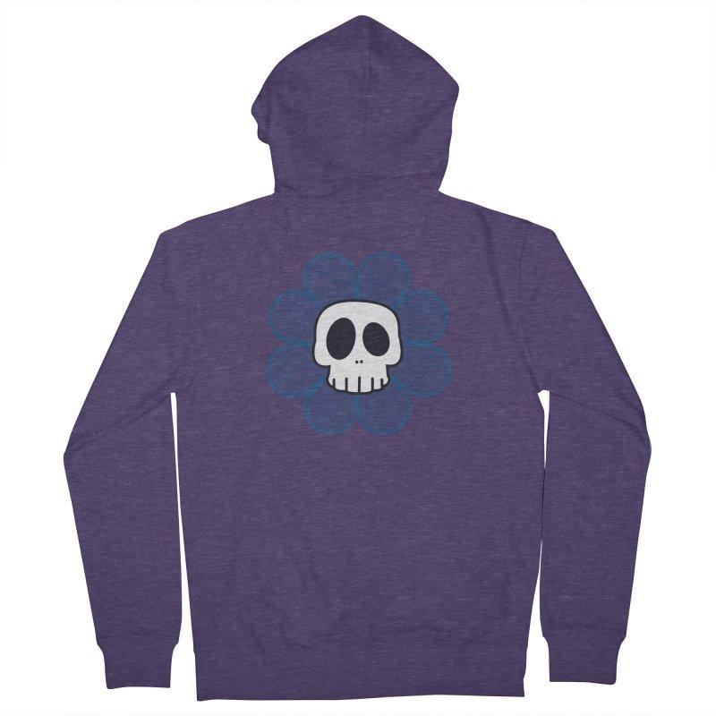 Swirl Skull Flower Men's Zip-Up Hoody by SkullyFlower's Sweetly Creepy Tees