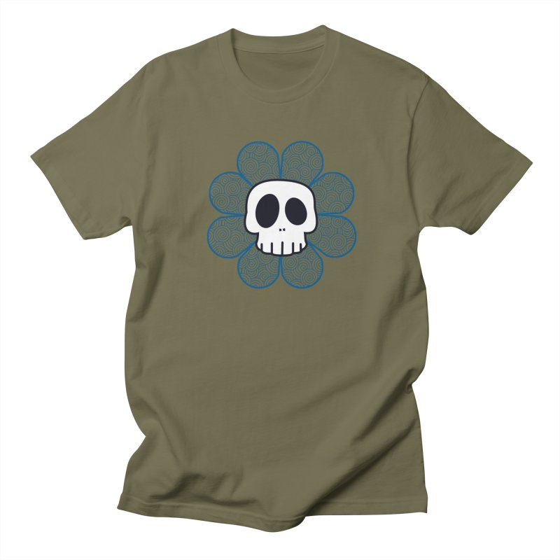 Swirl Skull Flower Women's Unisex T-Shirt by SkullyFlower's Sweetly Creepy Tees