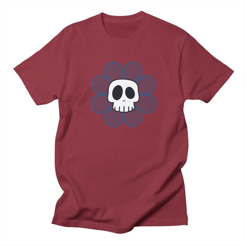 Swirl Skull Flower Women's Unisex T-Shirt by SkullyFlower's Sweetly Creepy Tees