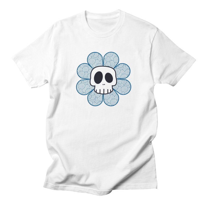 Swirl Skull Flower Women's Regular Unisex T-Shirt by SkullyFlower's Sweetly Creepy Tees