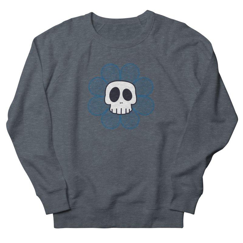 Swirl Skull Flower Women's Sweatshirt by SkullyFlower's Sweetly Creepy Tees