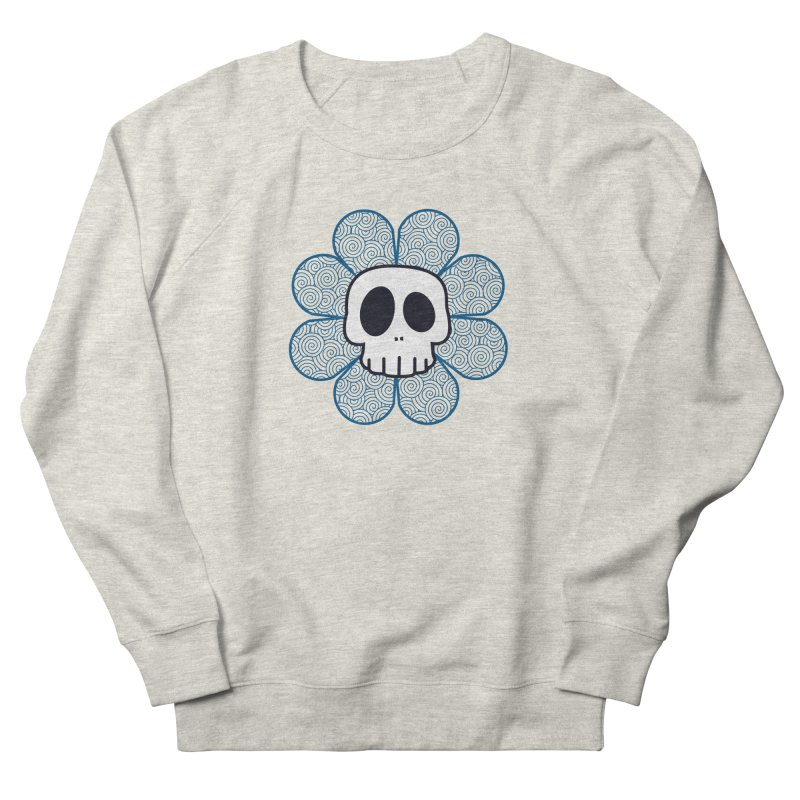 Swirl Skull Flower Women's Sweatshirt by SkullyFlower's Sweetly Creepy Tees
