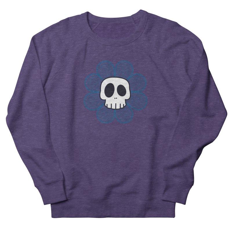 Swirl Skull Flower Men's French Terry Sweatshirt by SkullyFlower's Sweetly Creepy Tees